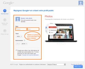 créer un profil Google+