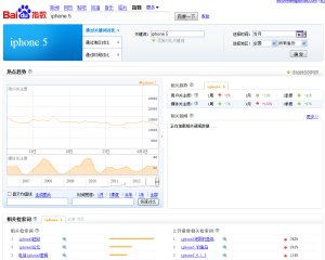 Tendance des recherches Baidu