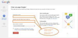 choisir un nom avec des mots-clés pour les pages Google +