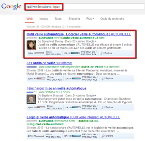 google author rank SEO et ereputation