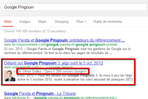 Google prend en compte le Author Rank