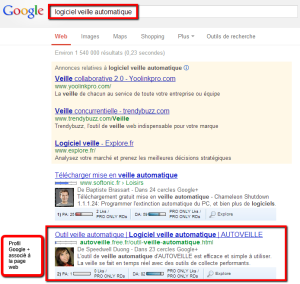Google Author Rank - balise rel=author