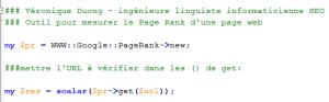 Outil pour mesurer le Page Rank