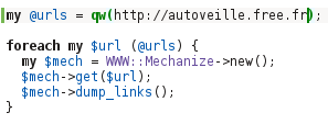 script Perl WWW::Mechanize