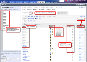 Baidu Keyword Generator interface