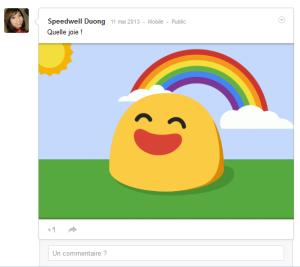 Humeurs de Google + Quelle joie !