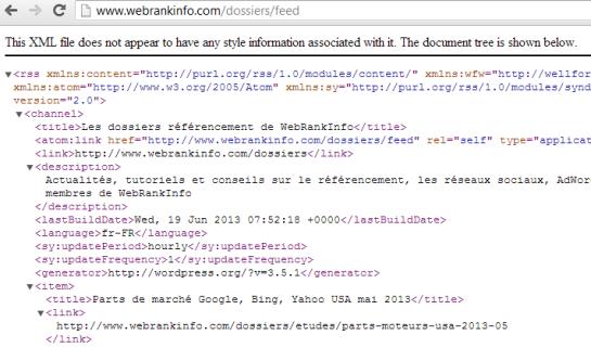 Logiciel de veille: Collecte automatique flux RSS XML