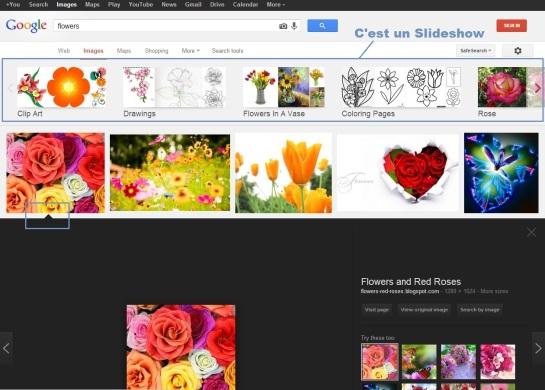 Google change l'affichage des résultats d'images : un slideshow en plus !
