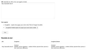 Outil robots.txt de Google