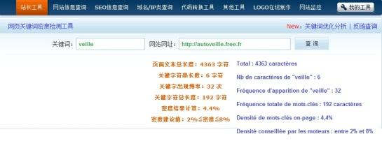 Densité de mots-clés pour le SEO chinois | AUTOVEILLE