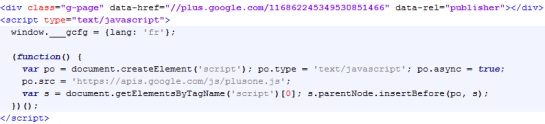 Code HTML rel=publisher | AUTOVEILLE
