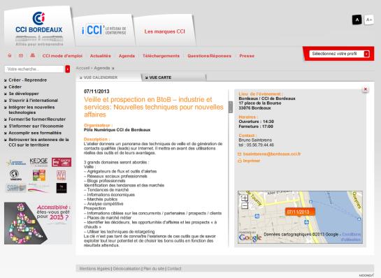 CCI de Bordeaux - Atelier sur la veille et la prospection