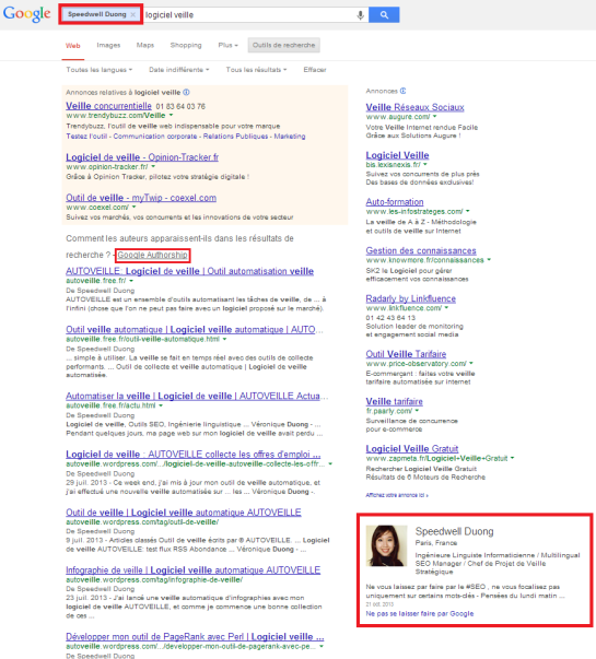 Google Authorship : lier les articles au profil Google+