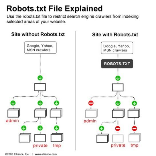 Infographie simple du robots.txt | AUTOVEILLE