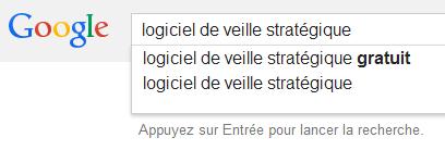 Mots-clés suggérés par Google