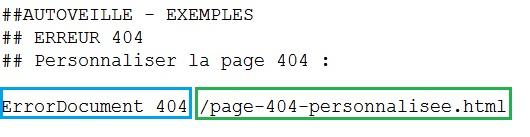 Page erreur 404 personnalisée - AUTOVEILLE