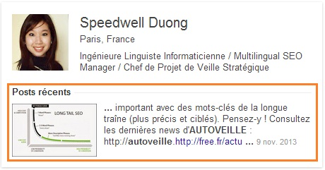 Snippet Profil Google+ Authorship Speedwell Duong