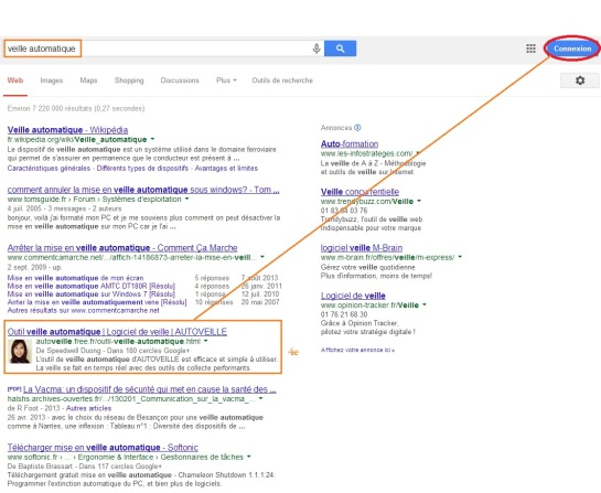 AUTOVEILLE : 4e sur Google