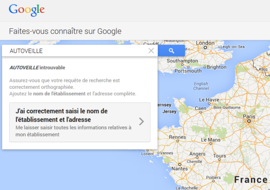 Google+ Local - étape 3