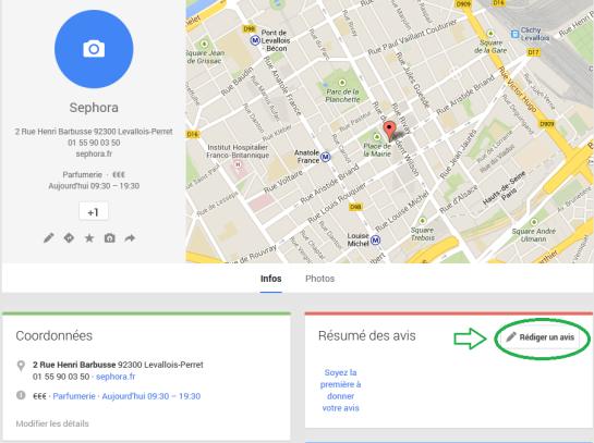 Google+ Local - étape 6