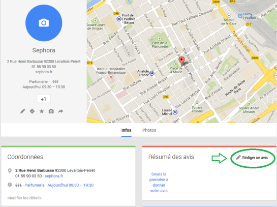 Google+ Local - étape 6