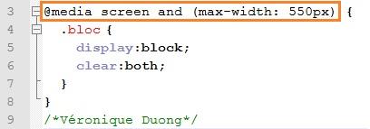 Responsive Design code CSS - AUTOVEILLE