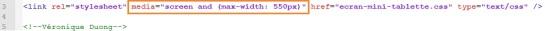 Code HTML pour Responsive Design - AUTOVEILLE