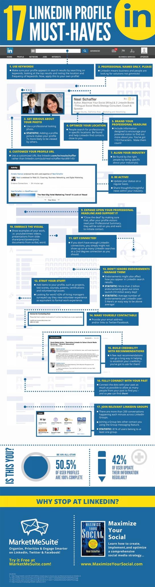 17 astuces pour optimiser son profil Linkedin - AUTOVEILLE
