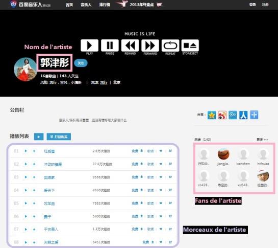 Baidu Music - Page par artiste - AUTOVEILLE