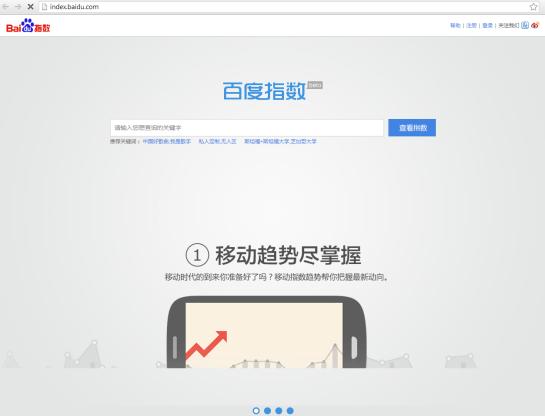 Baidu Index - Tendance de recherches en Chine - AUTOVEILLE