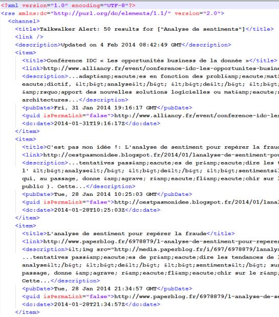 XML généré à partir de flux RSS Talkwalker - AUTOVEILLE