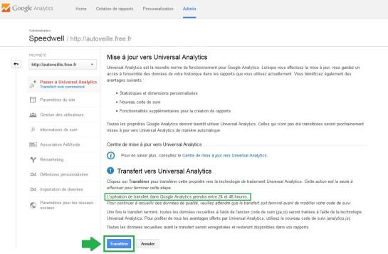 AUTOVEILLE Universal Analytics - Transfert