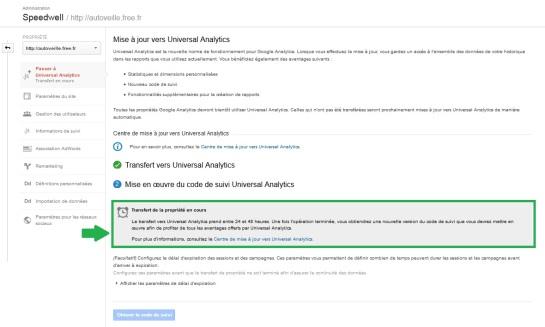 Nouveau code de suivi Universal Analytics - AUTOVEILLE