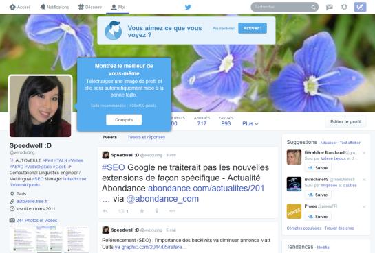 Nouveau profil Twitter - AUTOVEILLE