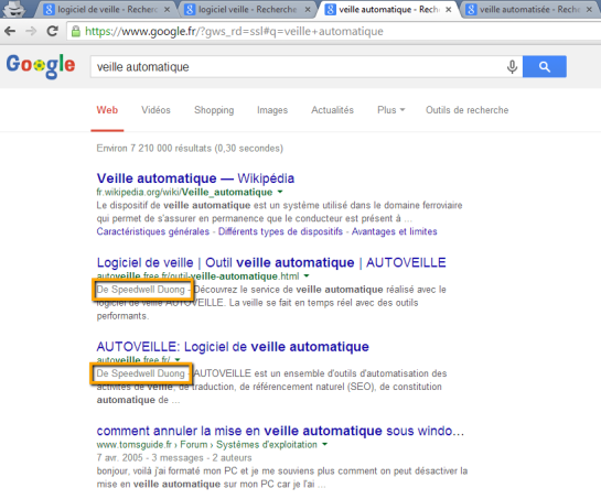 Google retire photos des SERP - AUTOVEILLE