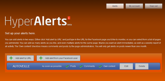 Formulaire Hyper Alerts - AUTOVEILLE
