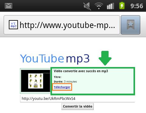 Téléchargement du MP3 de la vidéo convertie - AUTOVEILLE