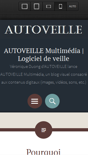 Blog AUTOVEILLE Multimédia - Responsive Design