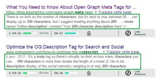 Nouvelle limite de caractères pour la méta description - AUTOVEILLE