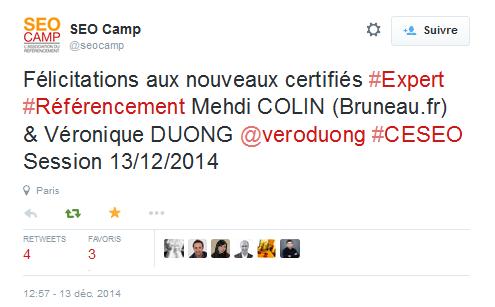 Véronique Duong - Certifiée CESEO 2014