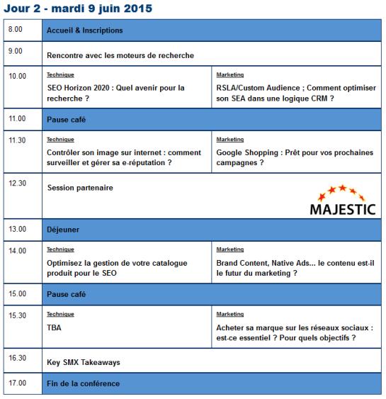 Programme SMX France 2ème Journée - AUTOVEILLE 2015