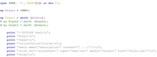 Outil génération automatique de pages HTML - AUTOVEILLE