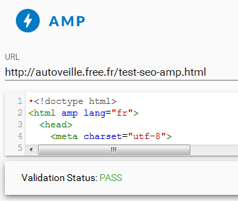 Page de test SEO AMP-friendly - AUTOVEILLE