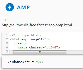Page de test SEO AMP-friendly - AUTOVEILLE