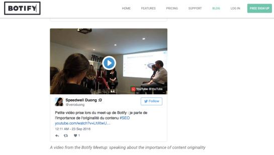 Vidéo SEO sur la qualité des contenus - Botify