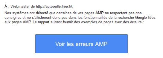 Search Console et page AMP - test SEO - AUTOVEILLE