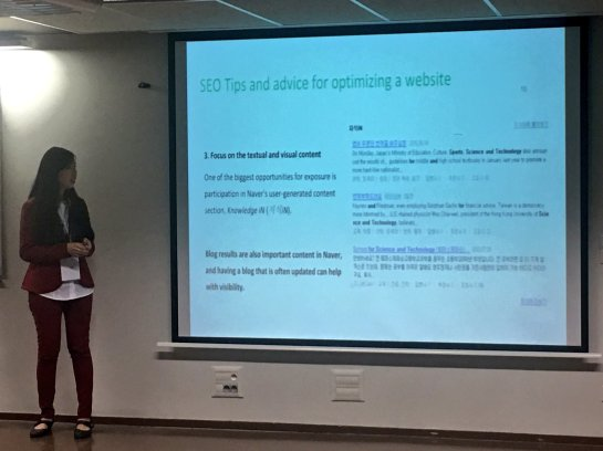 Conférence SEO Naver, Véronique Duong