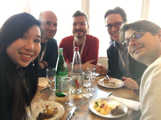 dejeuner google botify Thomas Grange, Benjamin Bussière, Aymeric bouillat, Véronique duong, Vincent Courson